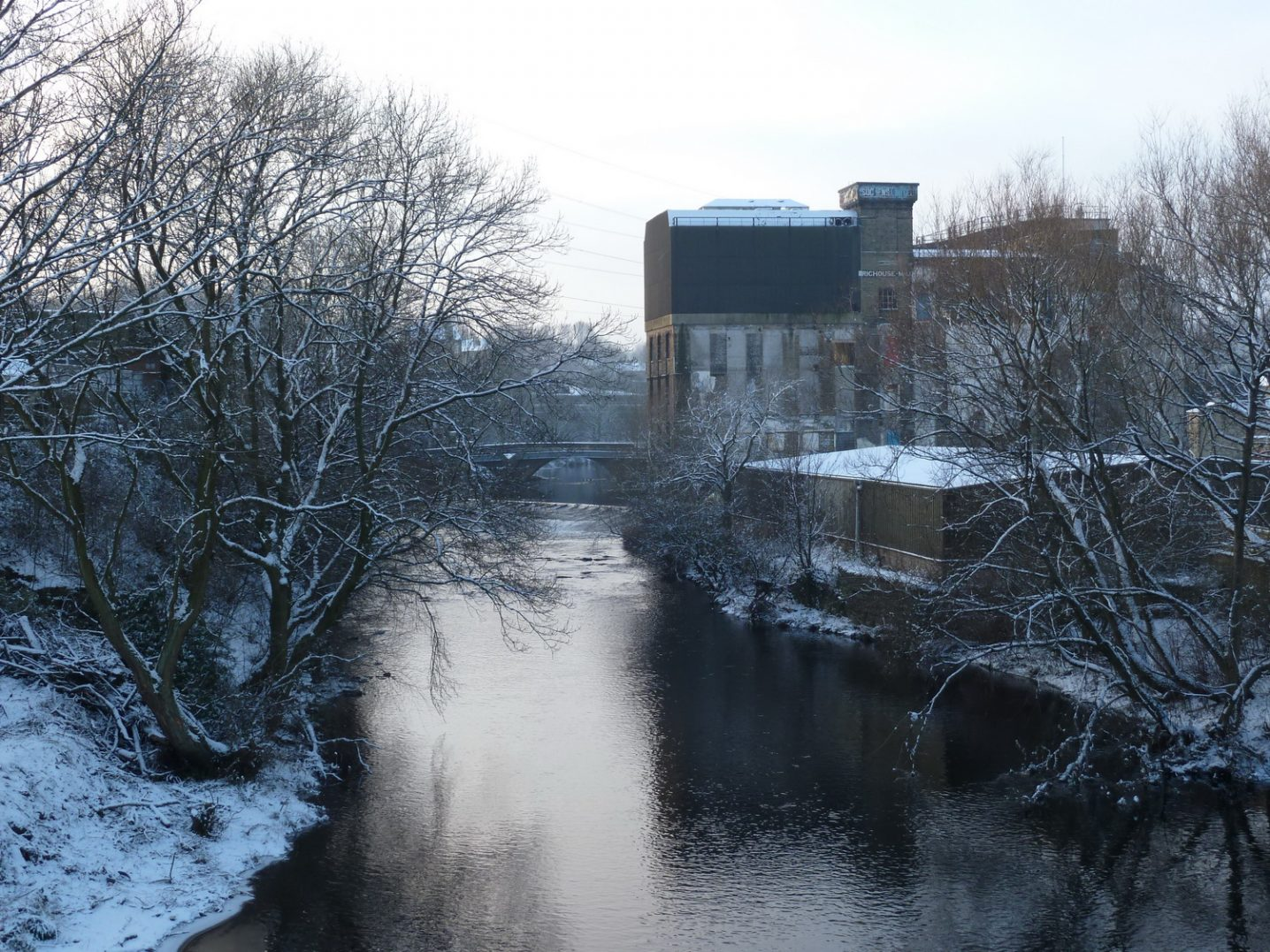 Sugden's Old Mill from Guddersfield Road Bridge 2013